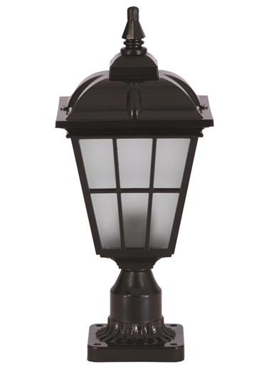 Avonni  BSU-68183-BSY-K Siyah Boyalı DışMekan Aydınlatma E27 ABS Polikarbon Cam 20cm Siyah